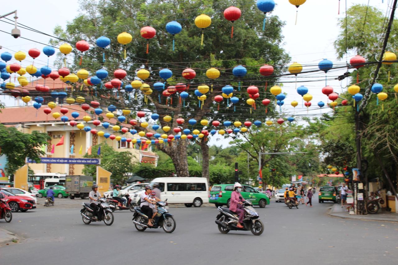 Centrum Hoi An - miasta słynącego z lampionów.