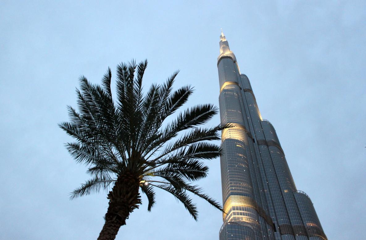 Dubaj, Burj Khalifa - najwyższy budynek świata.
