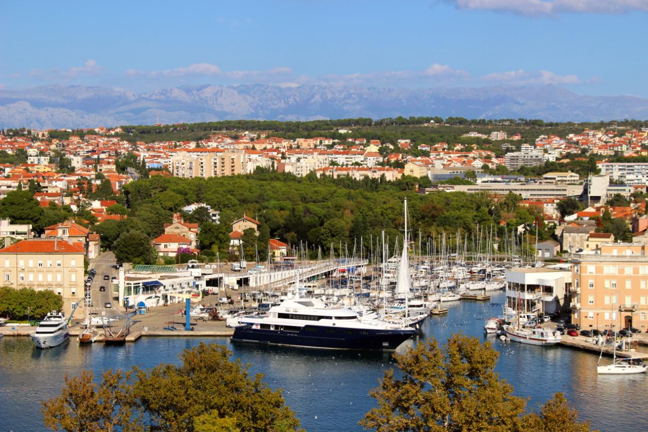 Chorwacja - widok na marinę