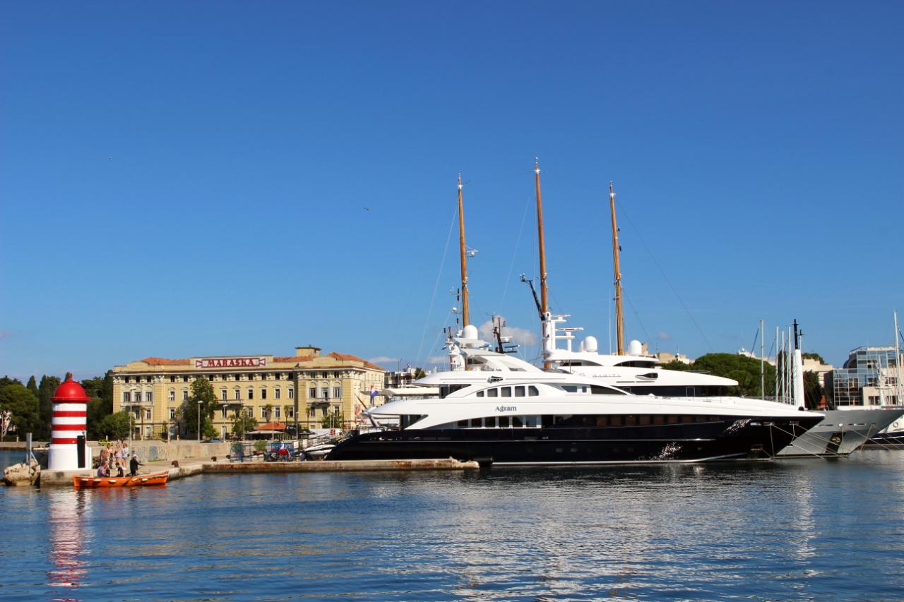 Chorwacja po sezonie- imponujące jachty