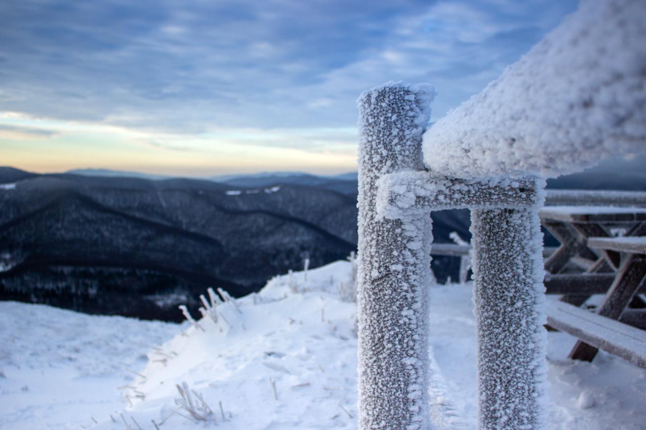 Połonina Wetlińska - Bieszczady zimą
