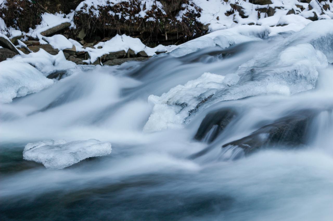 Bieszczady zimą - Rezerwat Przyrody Sine Wiry