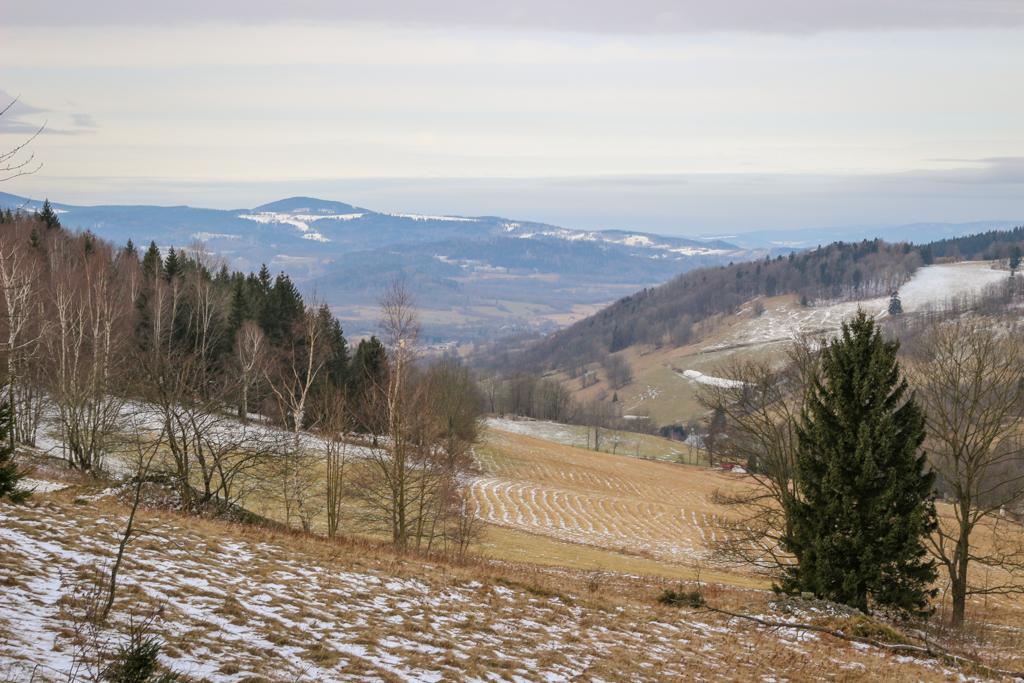 Widok na Góry złote na granicy polsko-czeskiej.