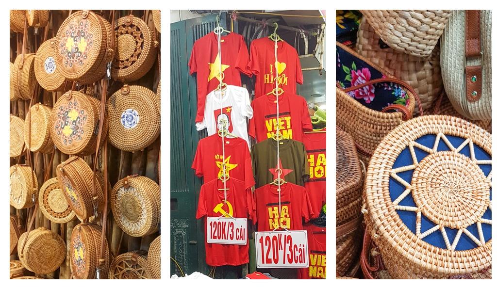 Atrakcje i suweniry, które można kupić na nocnym targu w Hanoi, marzec 2019 r.