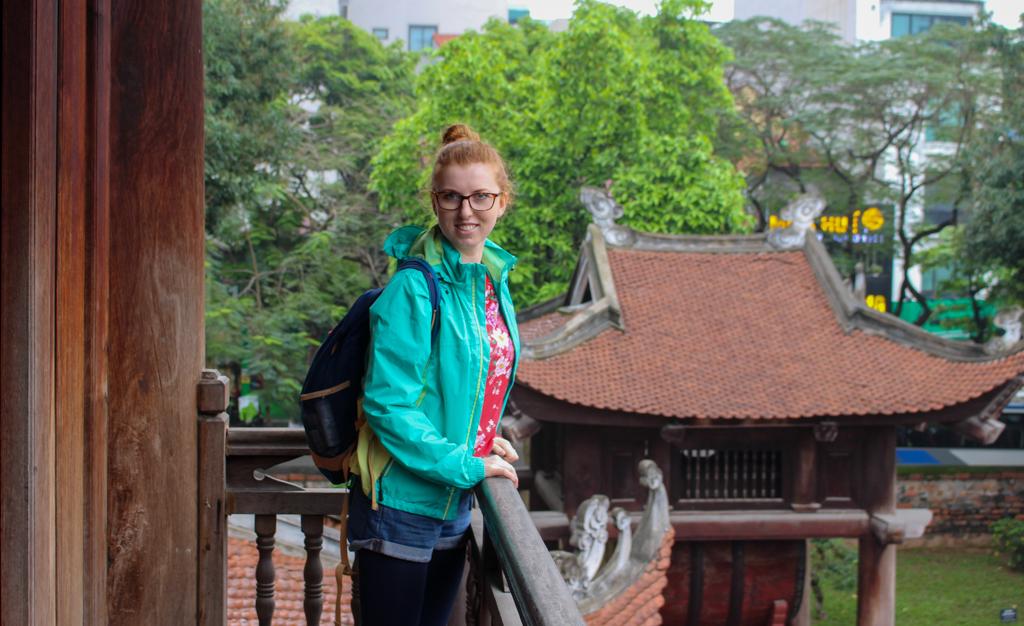 Jeden z tarasów w Świątyni Literatury, stolica Wietnamu 2019 r.
