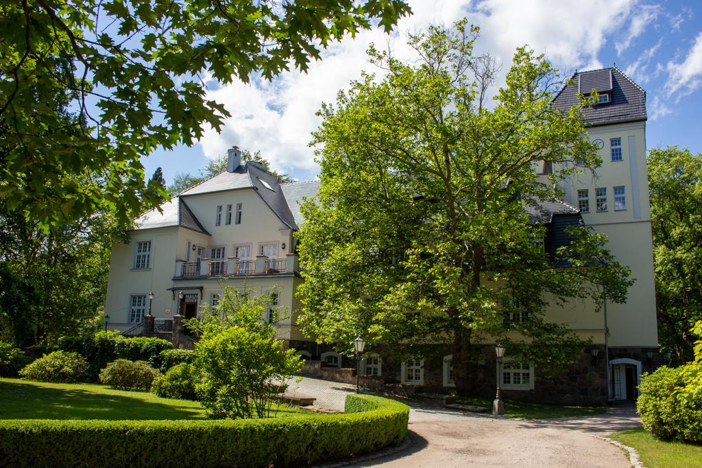 Widok na front Pałacu Ciekocinko