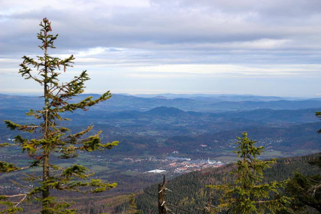 Panorama ze skalnego stołu